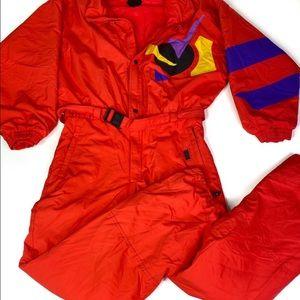Vintage Killy 80's LN Red Ski Suit waist 34 Large